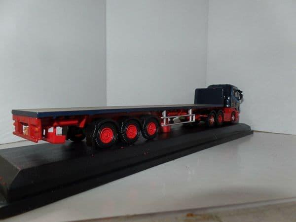 Oxford 76SHL01FT SHL01FT 1/76 OO Scania  Highline Flatbed Trailer Ian Craig